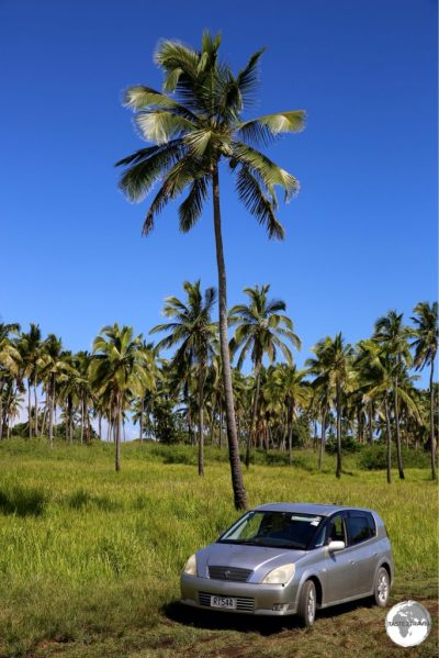 My rental car on Tongatapu Island.