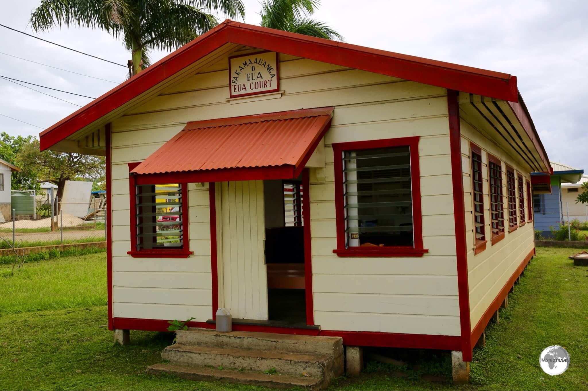 The 'Eua courthouse in Ohonua village.