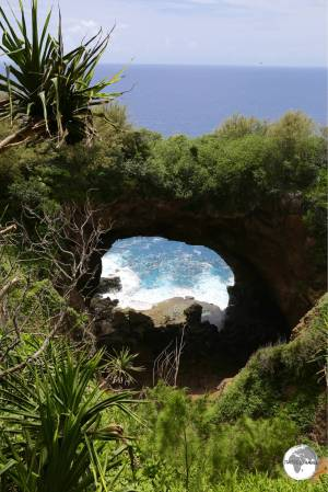 The impressive Natural Archway on the south coast of 'Eua.