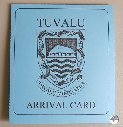 The Tuvalu Arrival document contains four separate declarations which are collected by four different departments upon arrival.