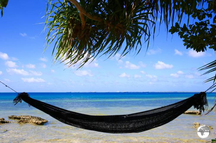 All homes on Funafuti have sea frontage and most have a hammock or two overlooking the lagoon.