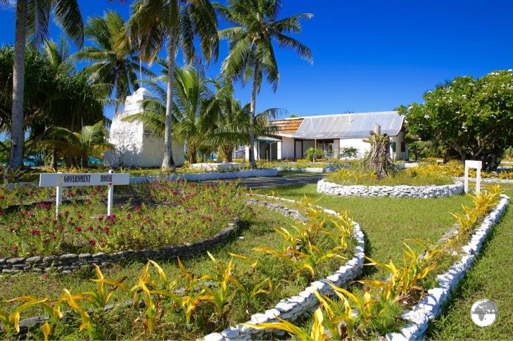 Tuvalu's Government house, the official residence of the Governor General.