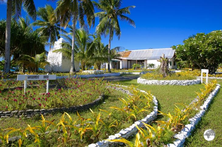 Tuvalu Government house, the official residence of the Governor General.