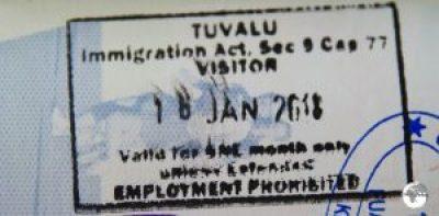 My Tuvalu passport stamp.