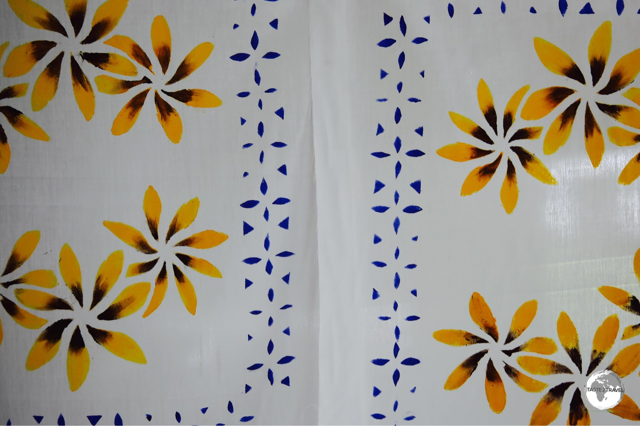 Hand-painted pillow cases from Kaica Tapulaa co-operative.