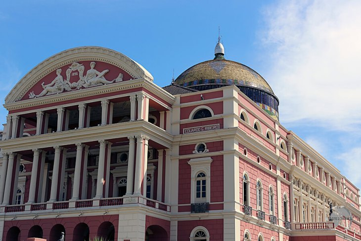 The opulent Manaus Opera House.