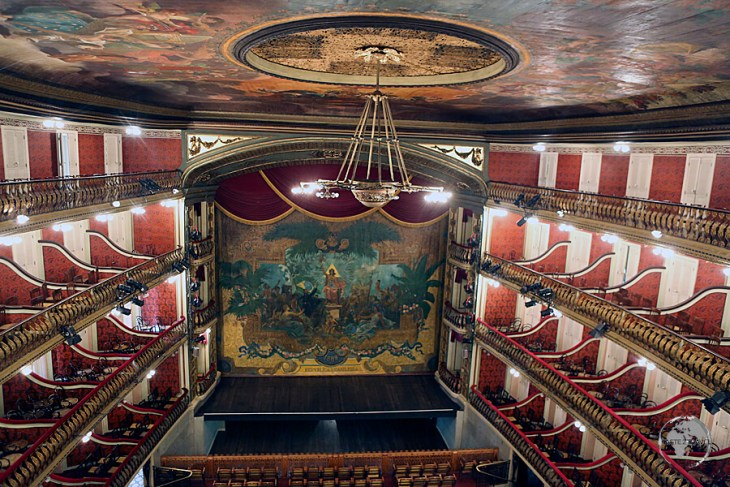 A highlight of Belém, the Teatro da Paz was built in 1874, using revenue from the rubber boom.