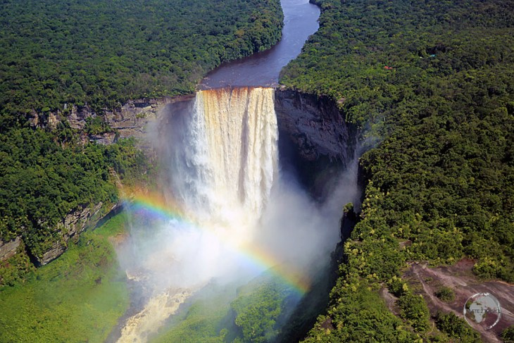 A rainbow over Kaieteur Falls, Guyana.