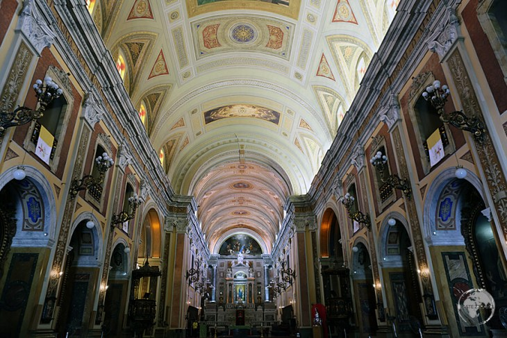 The grand interior of Belem Cathedral.