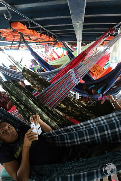 Hammock-class on the M/V Sao Francisco de Paula.