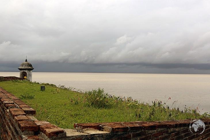 View of the Amazon River from Fortaleza de São José de Macapá.