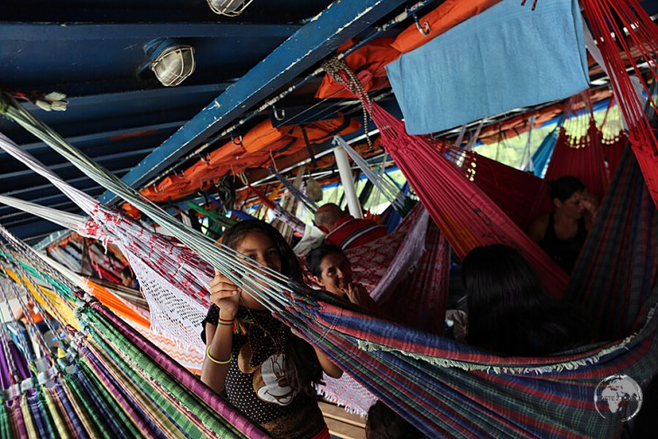 Hammock-class on my slow boat from Belem to Macapa.