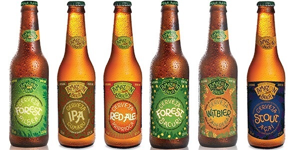 Craft beer range from Cervejaria Amazon Beer in Belém.