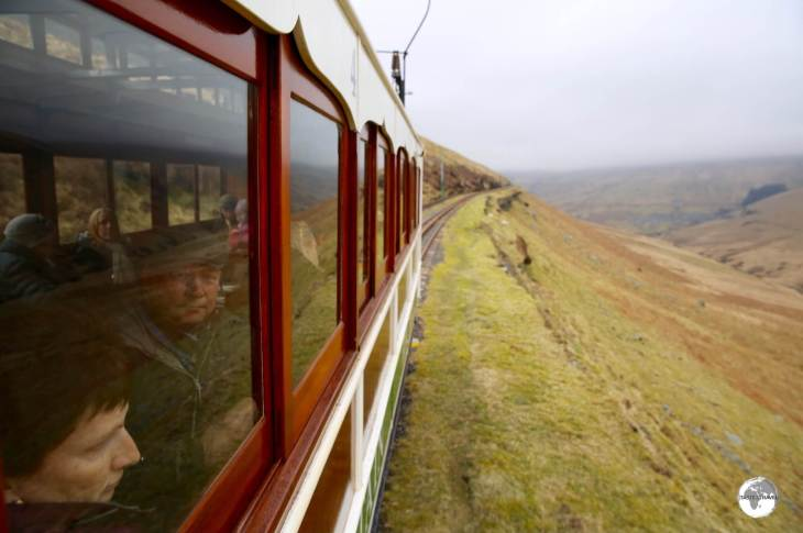 The Snaefell mountain railway conveys passengers to the loftiest point on the island - Mount Snaefell.