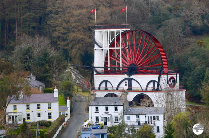 Towering over the village of Laxey, the Great Laxey wheel is the largest working waterwheel in the world.