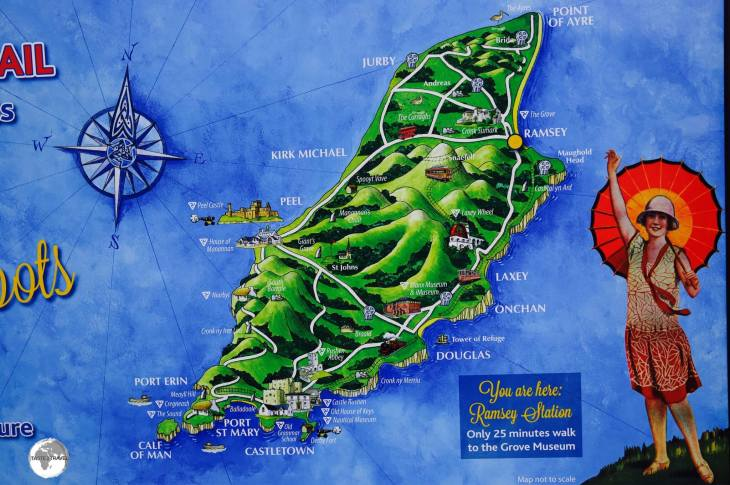 A touring map of the Isle of Man.