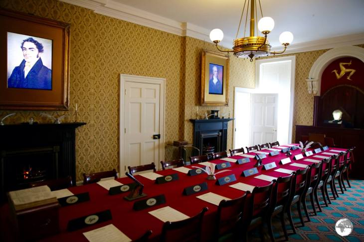 The former debating chamber at the Old House of Keys in Castletown.