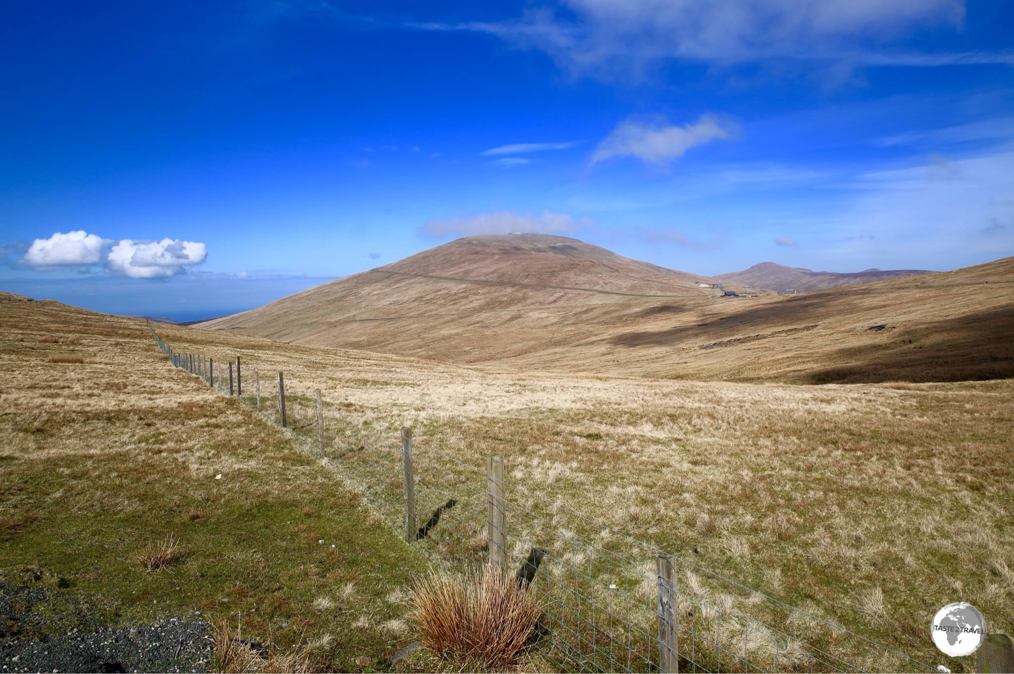 Mt. Snaefell, the highest point on the Isle of Man, rises gently to 621 metres (2037 ft).