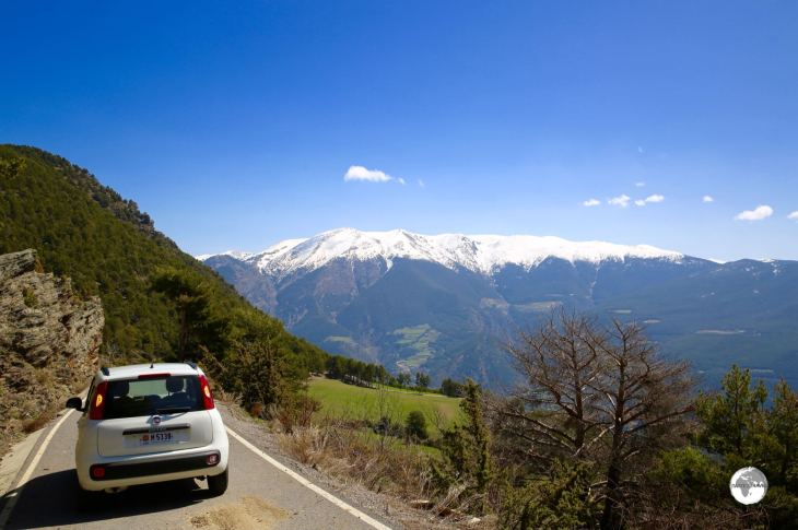 """Route CS-142, a narrow, steep, one-lane and sometimes icy road which climbs up to the """"Coll de la Gallina""""."""