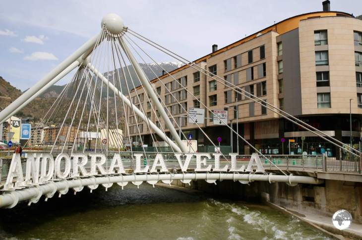 "The ""Pont de Paris"" in downtown Andorra La Vella."