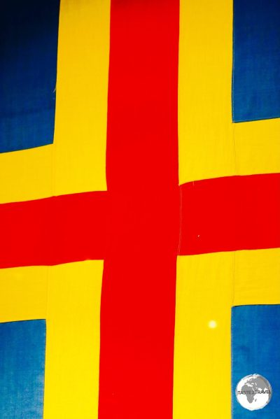 The flag of the Åland Islands is a the Swedish flag over-layed with a red cross.