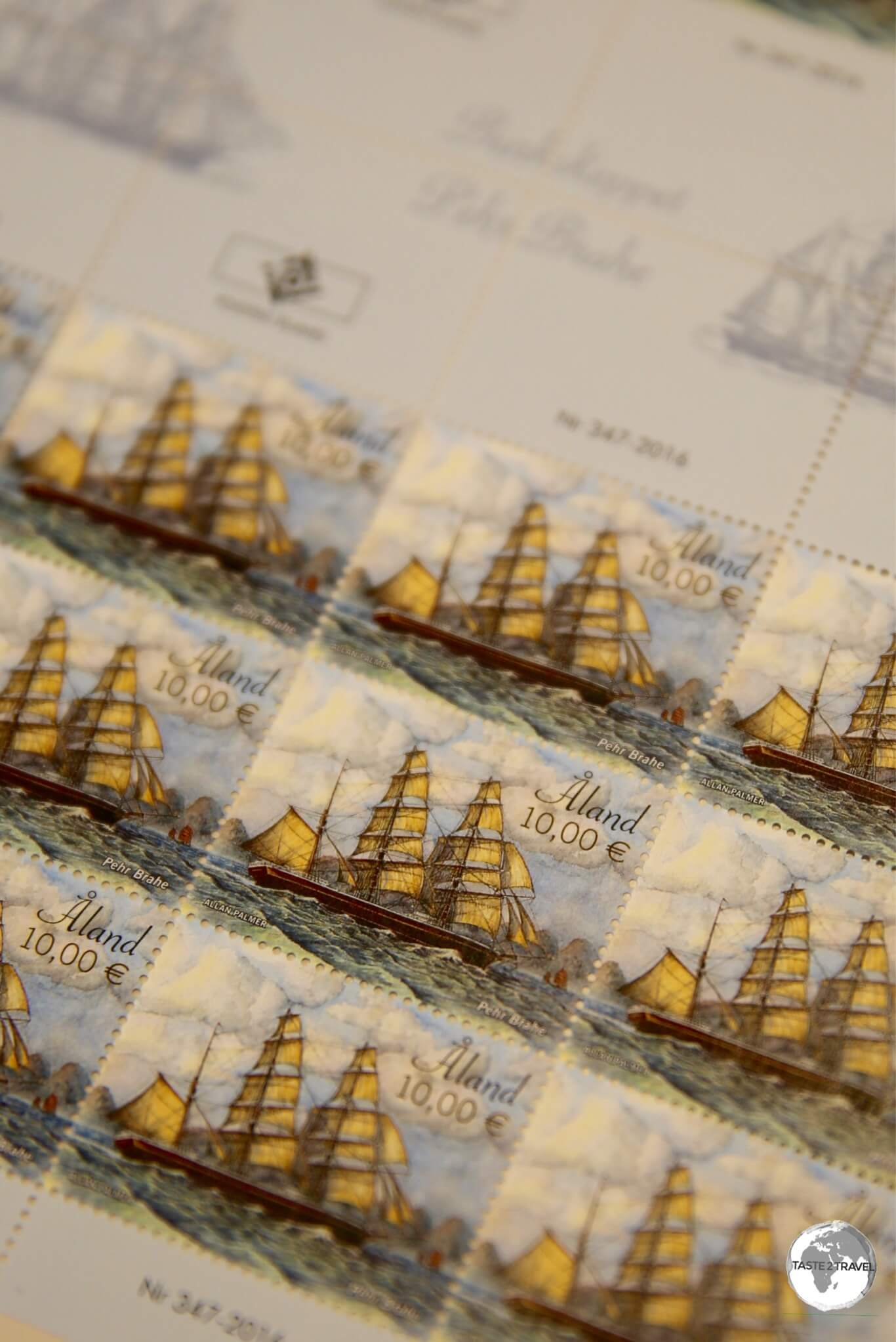 Aland Island stamps.