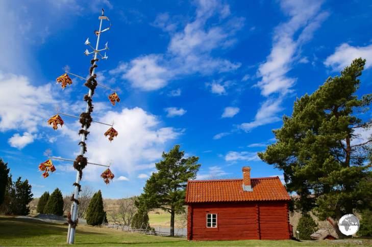 A maypole on the Åland Islands.