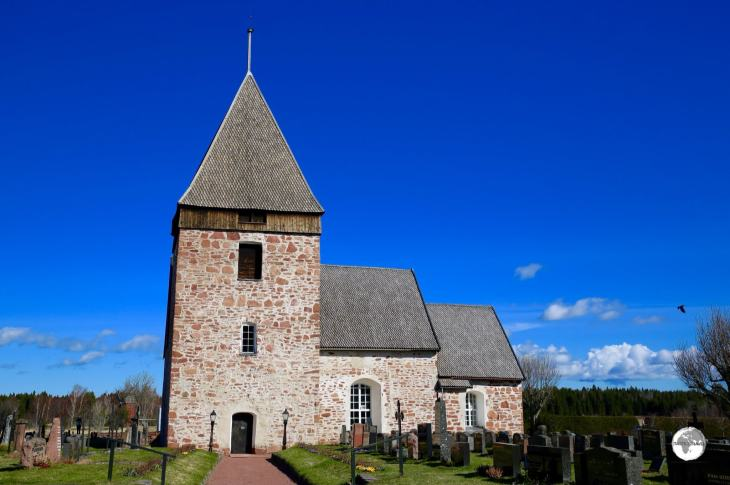 Originally built in the 13th century, Hammarland church, dedicated to Saint Catherine of Alexandria.