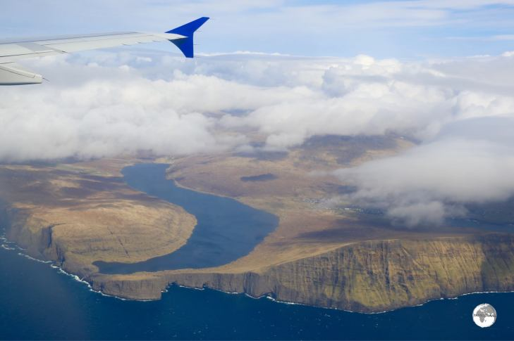 An incredible first view of the Faroe Islands from my the eat of my SAS Airlines flight.