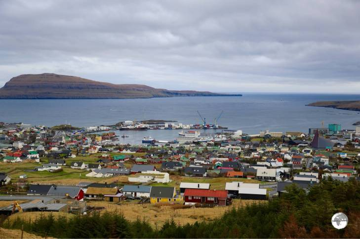 The capital and largest city of the Faroe Islands - Torshavn.