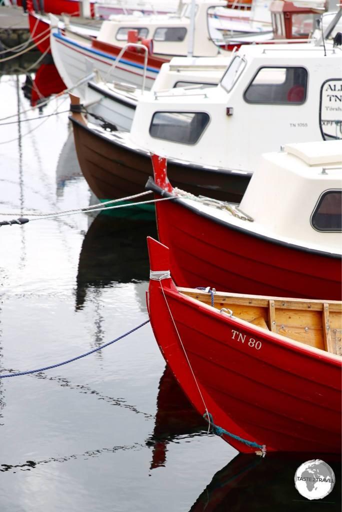 Boats in Tórshavn harbour.