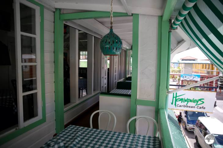 The charming Hemingways Caribbean Cafe in St. Johns.