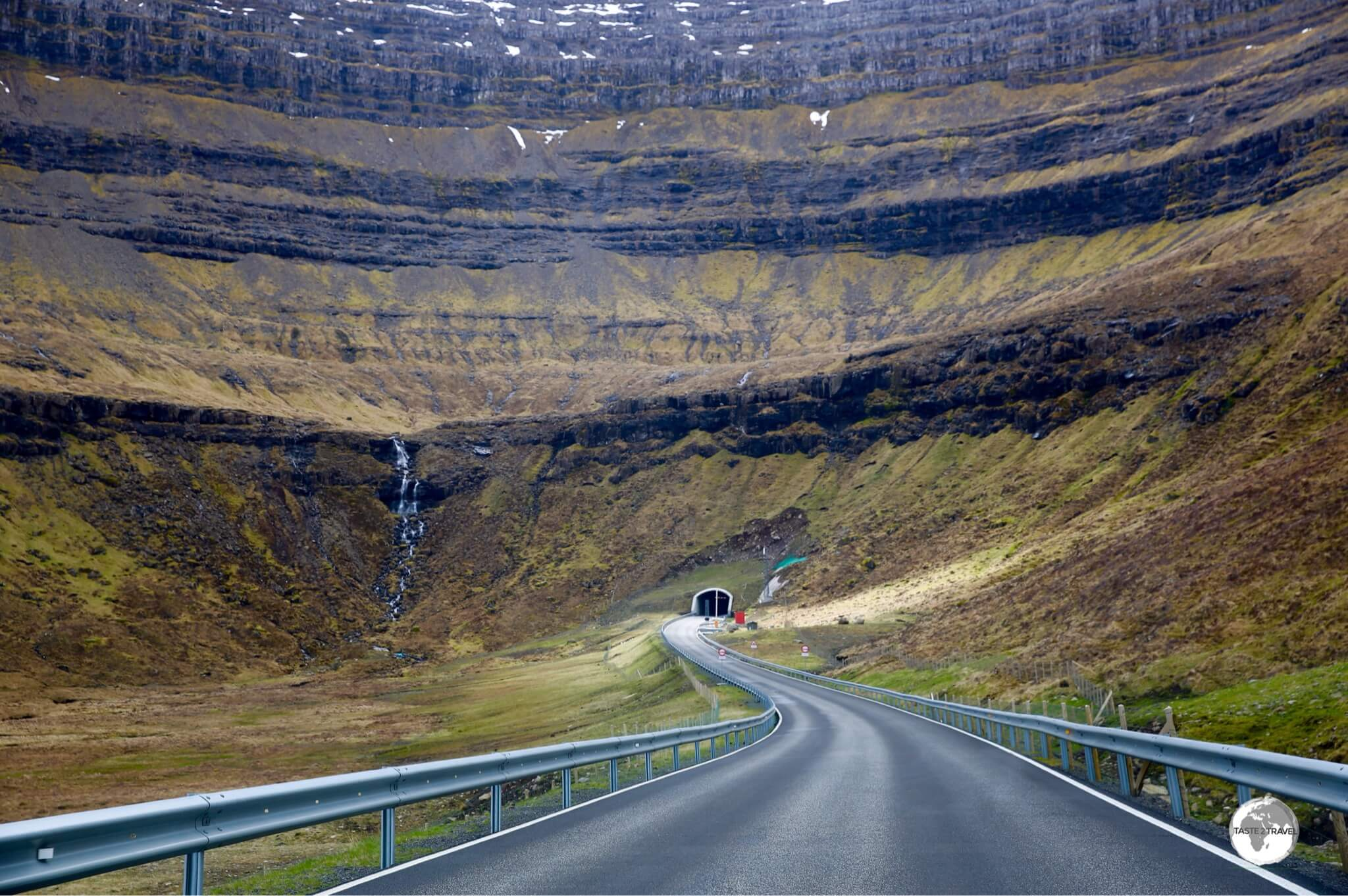 The almost 2-km long Viðareiðistunnilin was opened in 2016 and cuts across the centre of the island to the west coast.