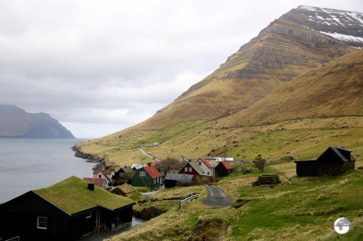 The remote village of Kunoy on Kunoy Island.