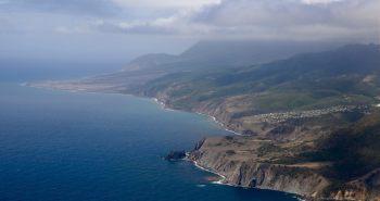 View of the east coast of Montserrat from my FlyMontserrat flight.