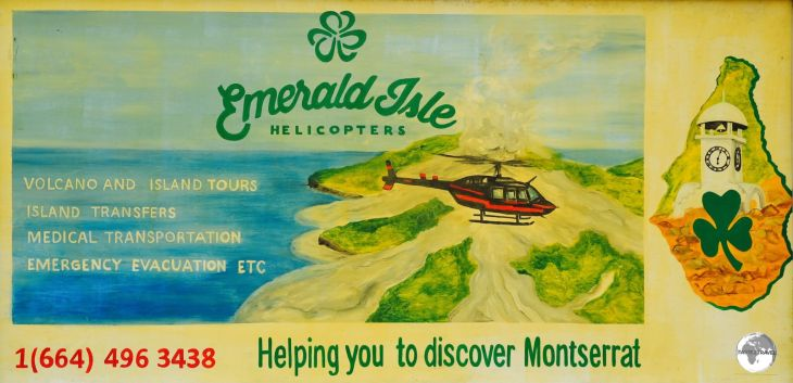 Scenic flights over Montserrat can be arranged by helicopter.