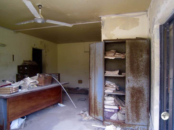 An abandoned office in Plymouth.