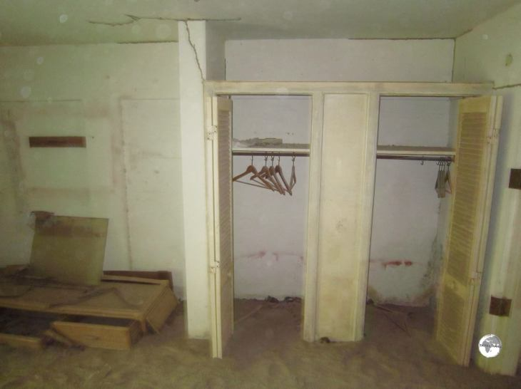 All the ground floor rooms at the former Montserrat Springs Hotel have been inundated with volcanic ash and mud.