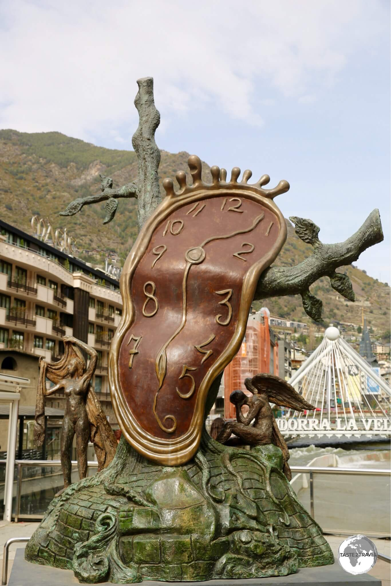 """The nobility of time"", a sculpture by Salvador Dalí in Andorra la Vella."