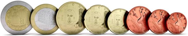 Andorran Euro coins. Image Source: fleur-de-coin.com