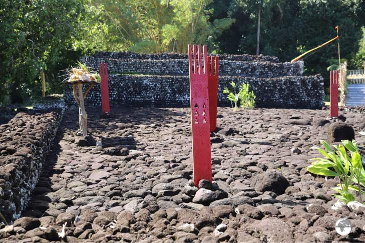 The Arahurahu Marae is located on the west coast, a short drive south of Papeete.