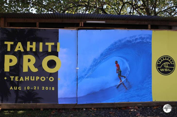 Getting ready for the Tahiti Pro surf competition which is held in August of each year.