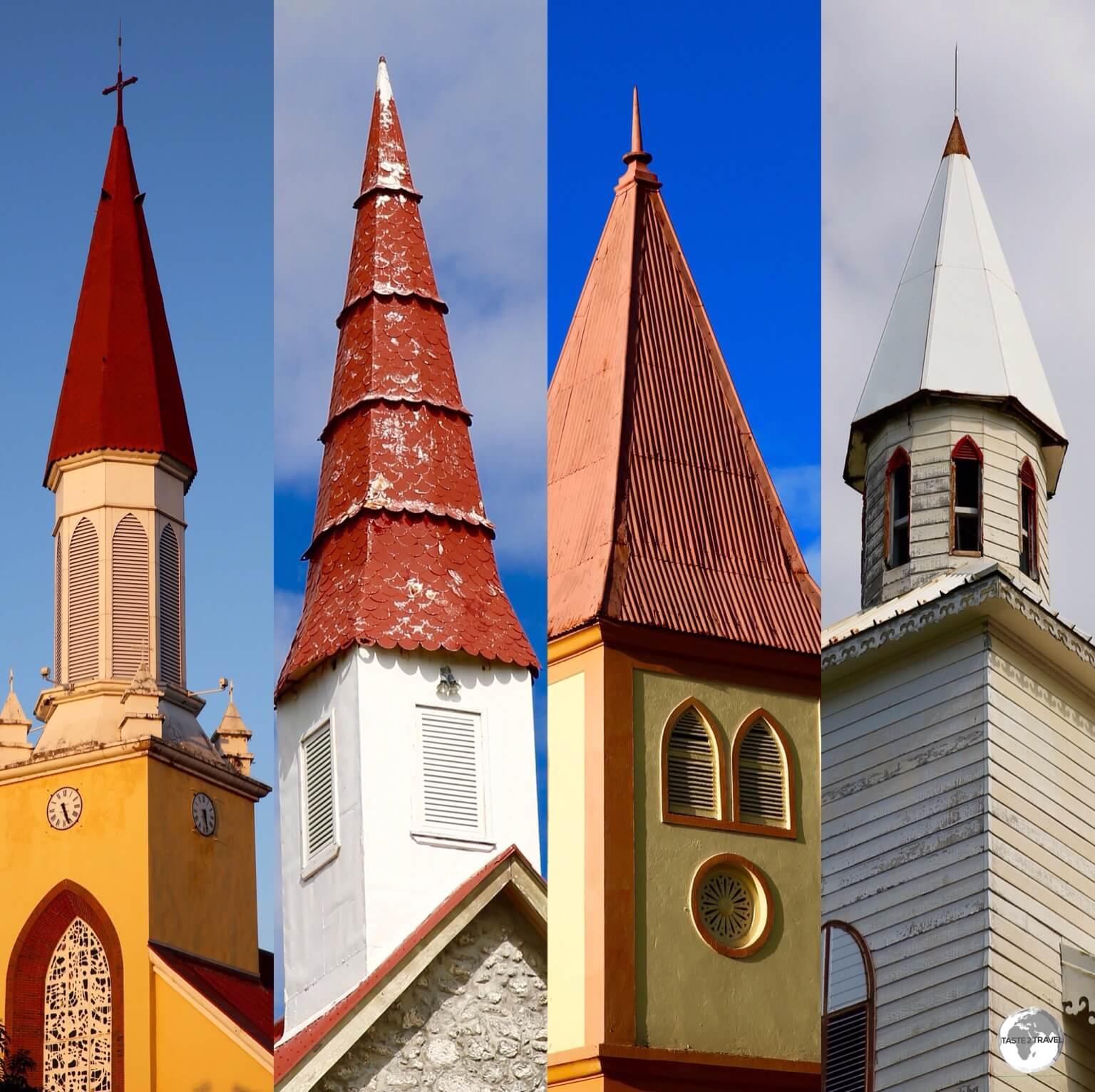 Church steeples of Tahiti.