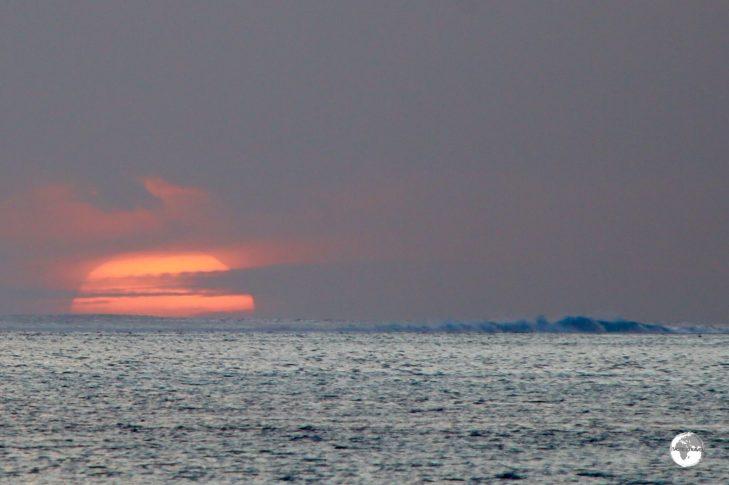 Sunset on Moorea.