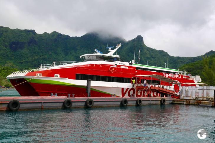 Ferry boat ready to depart Moorea.