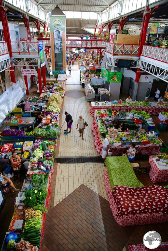 A view of Papeete central market.