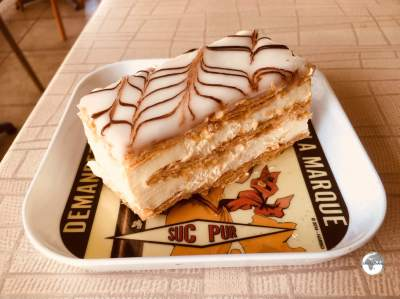 The best 'mille-feuille' on Moorea is served at Café Caraméline.