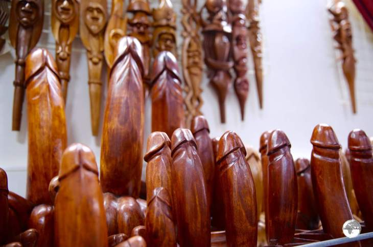 The phallus is of symbolic importance in the Kanak culture and today a popular souvenir item.