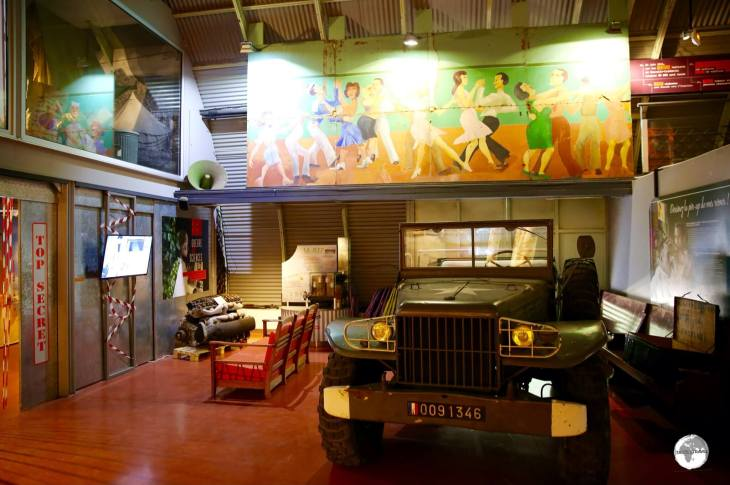Displays at the World War II Museum in Noumea.