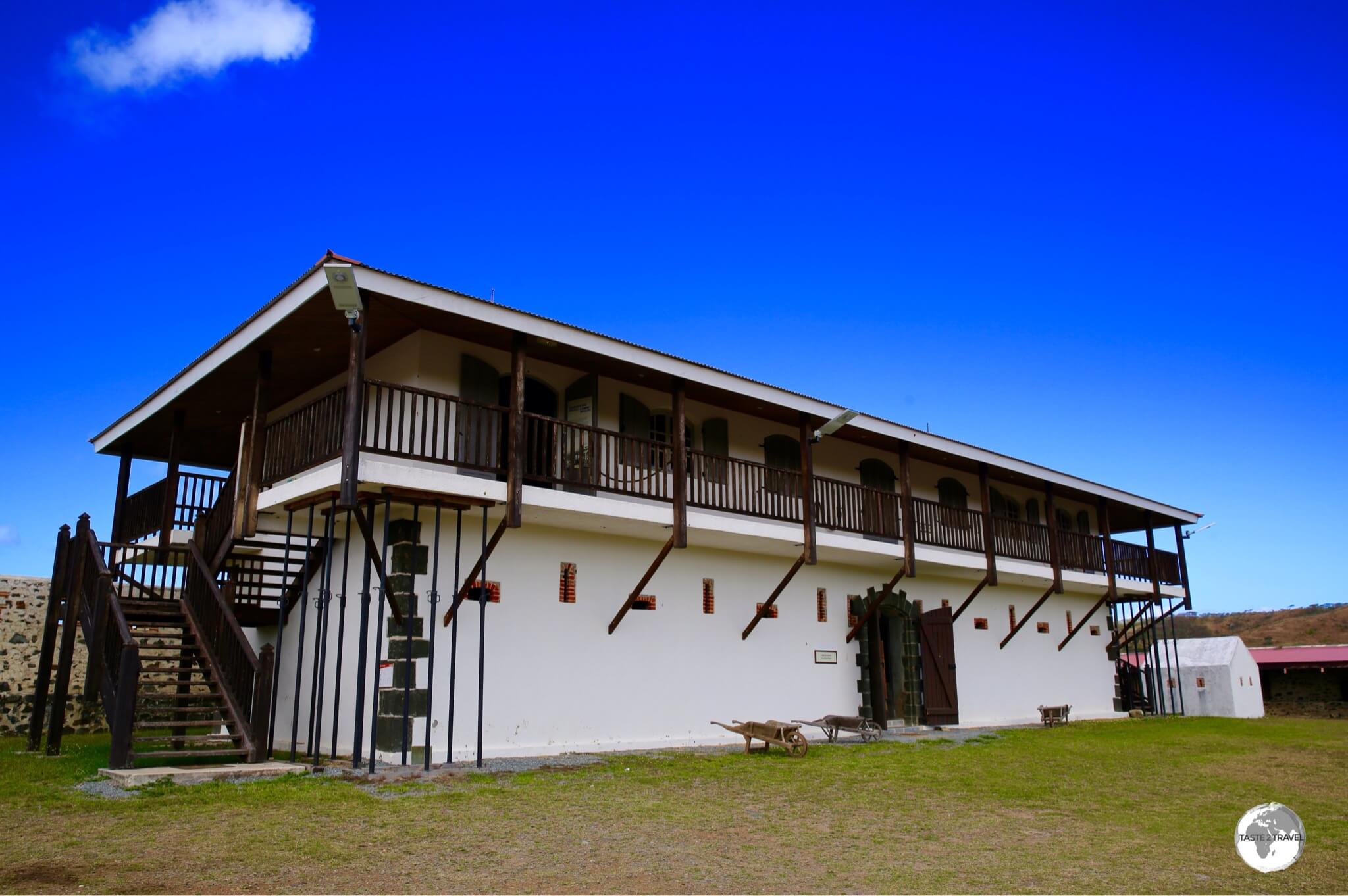 The administrative building at Fort Teremba.
